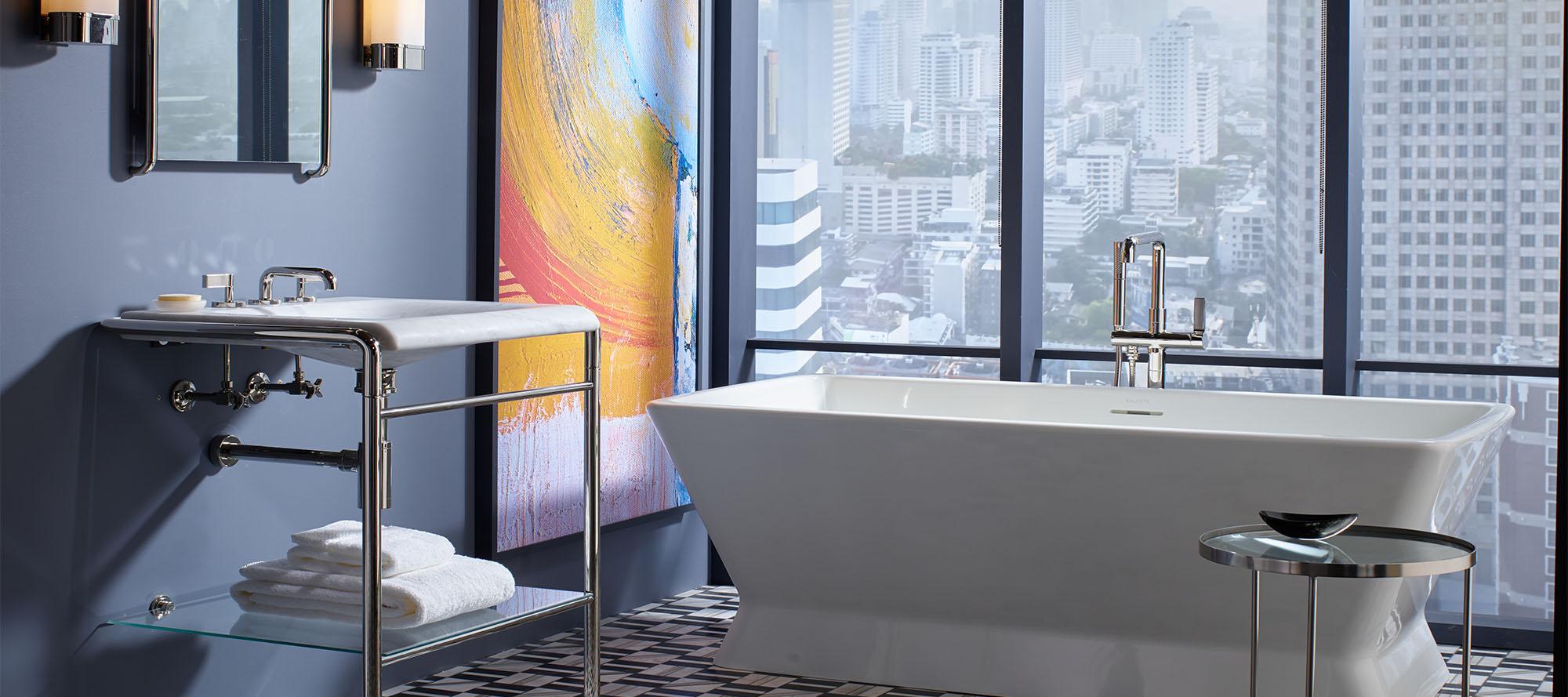 One Decorative Sink Faucet, Grigio Limestone Handles | P24491-GL ...